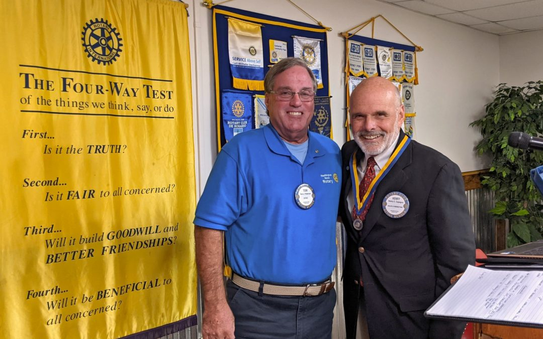 June 28 Induction of our new president